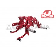 Racing Boy Adjustable Double Footrests/Rearsets - Yamaha T150
