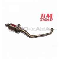 BM Power Racing SSTM Full Stainless Exhaust - Yamaha NVX/Aerox 155