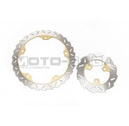 Racing Boy Petal Brake Disc Set (R295) - Suzuki Raider 150r
